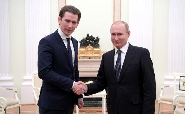 Президент РФ и канцлер Австрии на встрече в Вене обсудят развитие двусторонних отношений