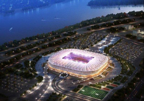 Стадион «Ростов Арена» сравнили с Ниагарским водопадом
