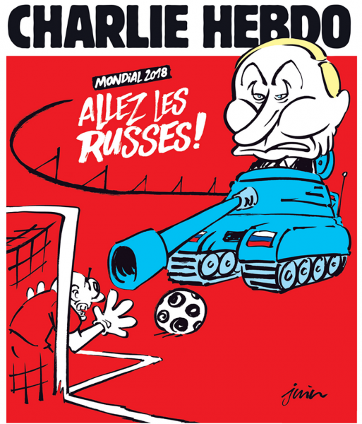 На обложку Charlie Hebdo «напал» Путин на танке