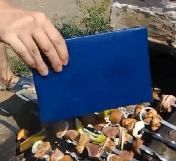 SSM-щик из Бурятии объяснил, почему он раздувал угли для шашлыка дипломом