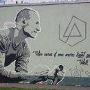 Граффити с изображением покойного лидера Linkin Park появилось в Петербурге