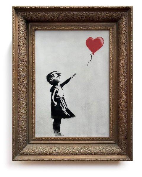 Бэнкси назвал случайной неудачей неполное уничтожение картины «Девочка с шаром»