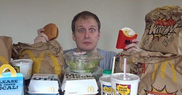 Блогер изобрел основанную на фастфуде диету