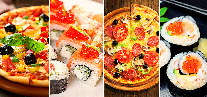 Доставка роллов, суши и пиццы в Казани