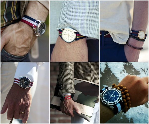 Кожаные ремешки и стальные браслеты для часов