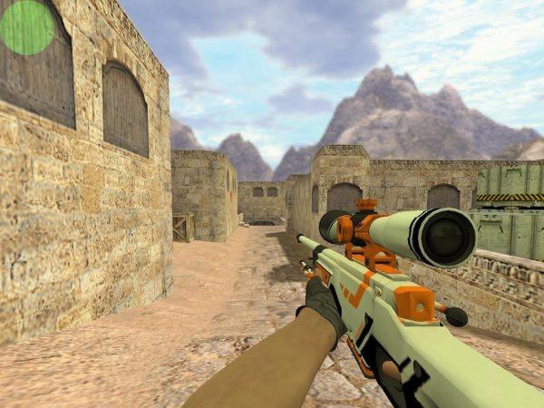 CS 1.6 с уникальными скинами оружия из CS:GO