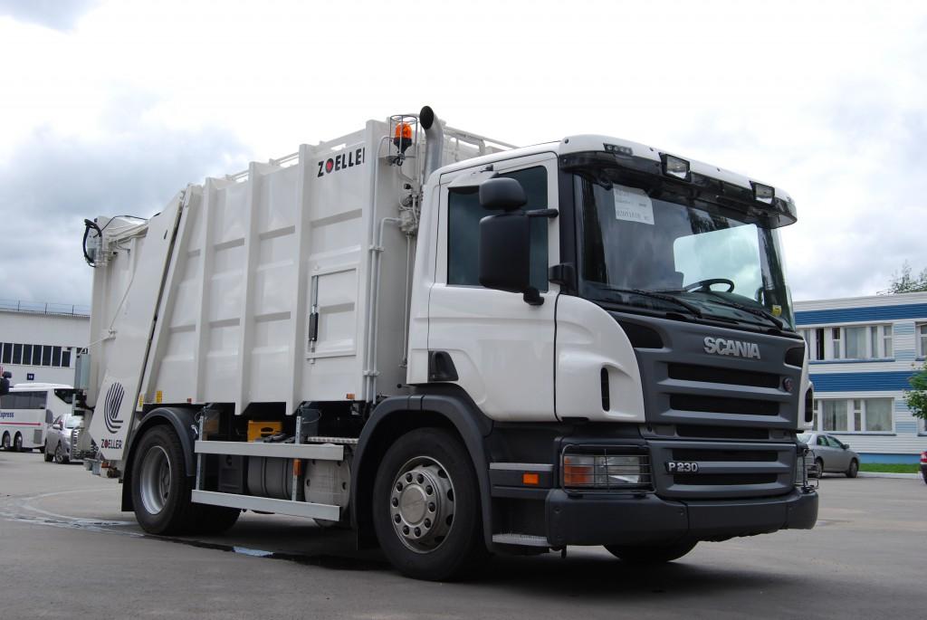 Новые фронтальные мусоровозы для вывоза отходов