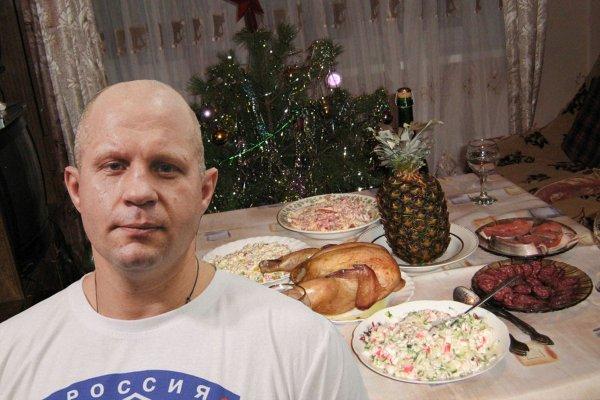 Селёдка под шубой для «Императора»: Емельяненко скромно отпразднует Новый год