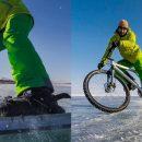 С коньков на велосипед: Крутить педали на льду Байкала — новый хит туризма