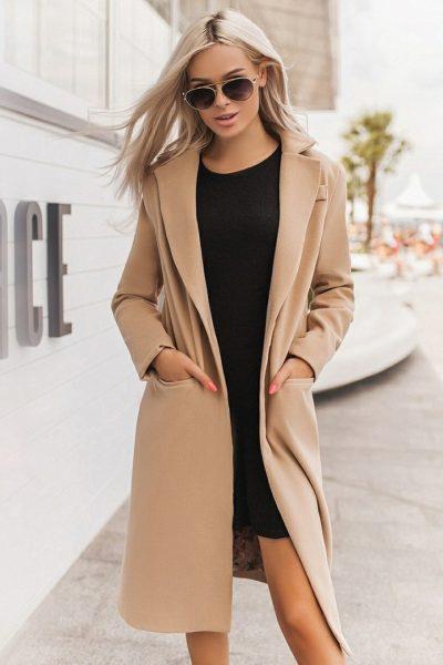 Кашемировое женское пальто на каждый день