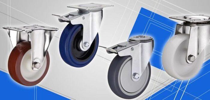 Купить колеса и колесные опоры для тележек, передвижного оборудования и тд